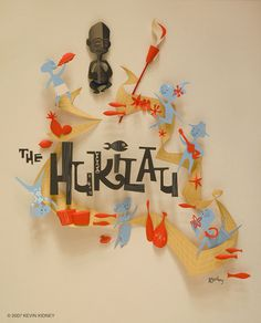 All sizes | HUKILAU Paper Sculpture Poster - Kevin Kidney | Flickr - Photo Sharing! #illustration #typography
