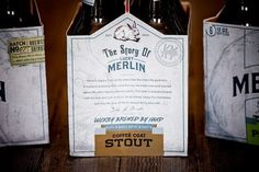 Lucky Merlin Beer Packaging #packaging #beer #label #bottle