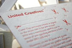 CU*TS Letterpress Postcard on the Behance Network #typography #branding #cuts letterpress postcard