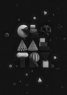 The Kitchen of Typography on Behance #type #3d
