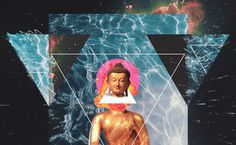 Buddha Glitch. Just playin' in PS #buddha #glitch #spiritual #universe #space