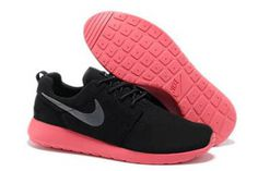 Nike Roshe Run Premium Shoe Black Anthracite Siren red Mens #shoe