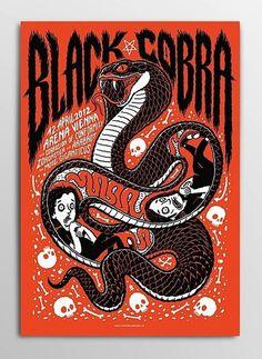 Black cobra concert poster