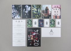 Print for art gallery, bar and cocktail academy Apartment A designed by Say What Studio #what #branding #print #say #identity #studio #stationery
