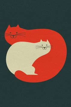 ilustración de Blanca Gómez #illustration #cats