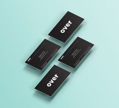 Over on Behance #business #design #graphic #black #over #identity #studio #barcelona #cards #green