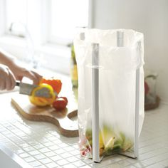 Make life in the kitchen simple with the Foldable Kitchen Bag Holder. #design #home #product #kitchen #industrial