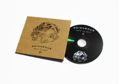 'Nieghbour - Note to Self' EP by Sophia Mary Mac #layout #stamp #typography #illustration #stamp #kraft #music #band #cover #coverart #CD