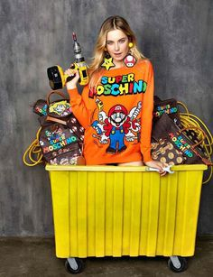 Moschino Unveils a 'Super Mario' Inspired collection #Moschino #SuperMario #Nintendo