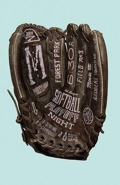 Softball Playoff Night #typography
