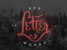 RedLetter #lettering #red #typography