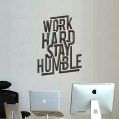 Work Hard Stay Humble #print #art #poster #typography