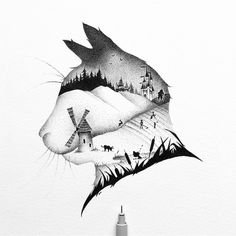 Puss in boots Johann Lucchini @yopich #ink #blackandwhite #drawing #illustration #cat