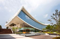 CJWHO ™ (National Library of Sejong City, Korea by...) #korea #construction #design #architecture #library