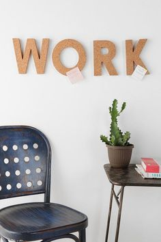 Work CorkLetter #notes #studio #open #paper #decoration