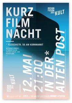 Kurzfilmnacht - bean's taste #design #poster