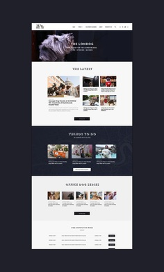 The Londog website design by Made by Gelpi