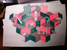 photo-13.JPG 1296×968 pixels #pattern #screenprinting #lobao #wolf #mariana