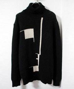 .esratac - bauhaus rollneck knit • raf simons #music #fashion #bauhaus