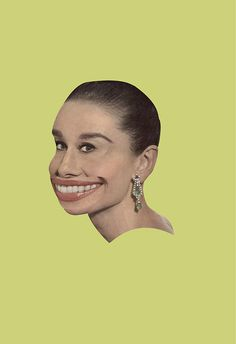 Her Smile- Alex Nio #art #poster #graphic #photo #collage #yellow #color