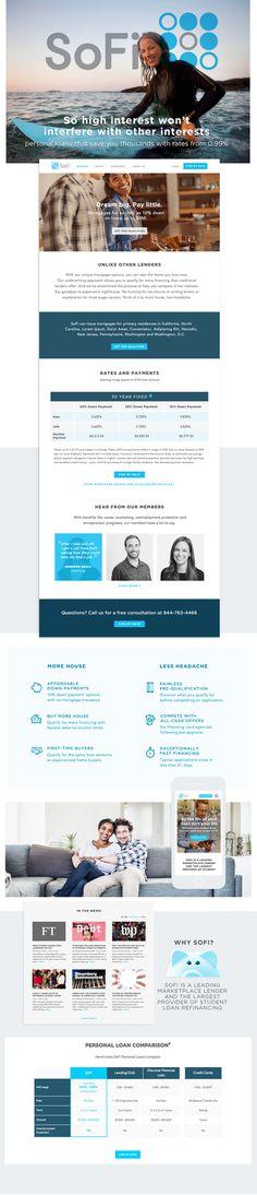 site rebuild for SoFi financial #uxdesign #branding #finance #interest #banking #website #sitedesign #responsive #porduct