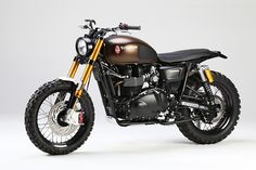 Twibfy #vehicle #motorcycle #triumph #bronze #black #gold #off-road