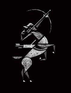 illustration, sagittarius
