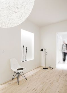 Living room with Japanese inspired 'Tokonoma'. Copenhagen Penthouse I by Norm.Architects. #livingroom #tokonoma #normarchitects #minimalism