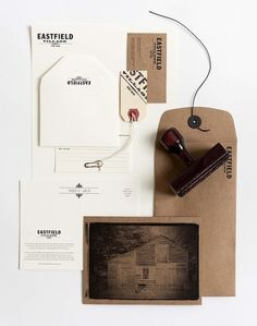 Eastfield on the Behance Network #paper #kraft #stationery