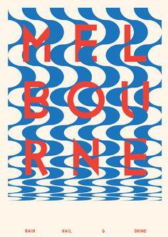 Melbourne - v2a #poster #type