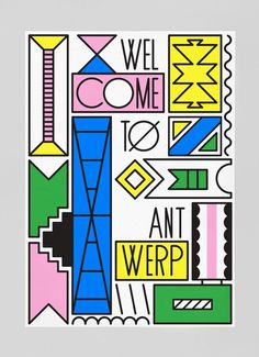 vincent vrints #design #bold #colours #poster