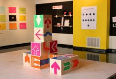 design work life » Robert Finkel: Up, Down, Left, Right Exhibition #wood #graphic