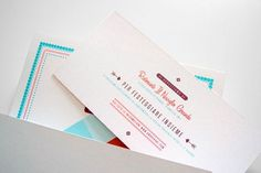 design work life » cataloging inspiration daily #wedding #burgundy #invitation #orange #arrows #teal
