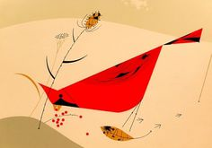 Charley Harper Bird Illustration #vintage #modernism #charley harper #wildlife