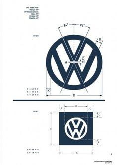 Recreated-Vintage VW Logo Specification Poster For Download | your creative logo designer