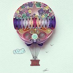 Beauty Paper Quill Art Designs by Sena Runa #paperCut #PaperQuill #art #unique #inspirations