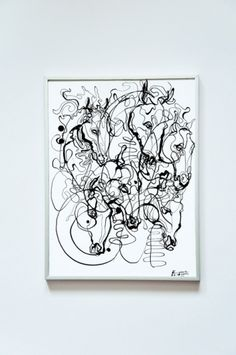 EXHIBITED WORKS on the Behance Network #ink #horse #art