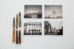 Cute Paper Items by #card #typography