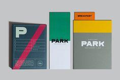 Park Restaurant & Distillery, Glasfurd & Walker, Swiss, Color block, Minimal, Collateral