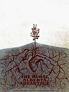 Brian Danaher ::: Design / The Rural Alberta Advantage Gig Poster #screen #gig #print #poster