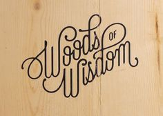 Creative Typography #of #woods #wisdom