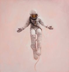 Perfection is a philosophical concept related to idealism — Jeremy Geddes #astronaut #floating #holy #painting