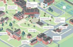 Taylor University Campus Map #shuman #university #map