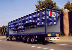 Creative Pepsi Truck Advertisment design idea