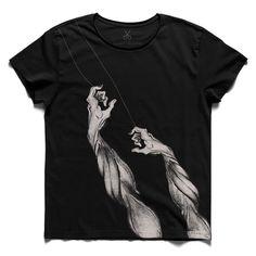 #cekmekes #black #tee #tshirt #dali #arm #charcoal #drawing #hand #pull #rope