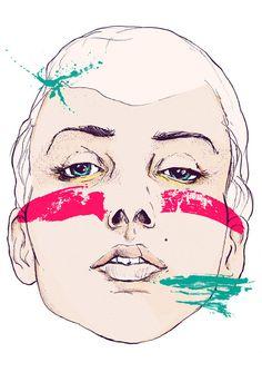MAGDA ŁUPIŃSKA: POSTERS #illustration #paint #portrait #face