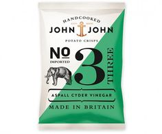 John & John Potato Crisps - TheDieline.com - Package Design Blog #green #packet #packaging #crisp #johnjohn #nautical