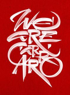 REVIEW magazine – Carraro Group #typography #handlettering #brush