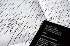 New Work: 3 at Saks Fifth Avenue | New at Pentagram #stationery #typography