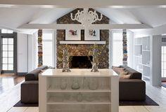 The Wilton Residence by UXUS Design | Yatzer™ #fireplace #white #mantal #books